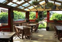 indoor outdoor dining in Te Anau at the Redcliff